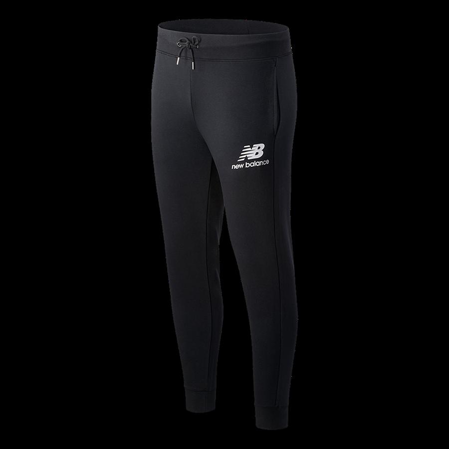 New Balance Jogginghose Essentials Stacked Logo schwarz/weiß Bild 2