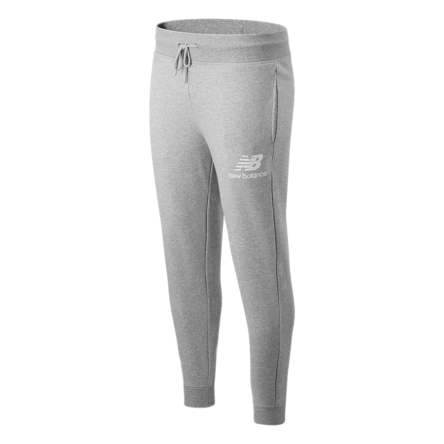 Pantalon de jogging New Balance Essentials Stacked Logo gris clair/blanc Image 2