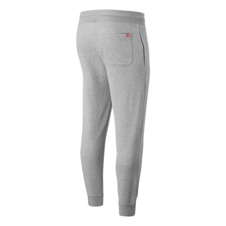 Pantalon de jogging New Balance Essentials Stacked Logo gris clair/blanc Image 3