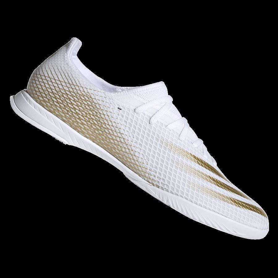 adidas Hallenschuh X Ghosted.3 IN weiß/gold Bild 2