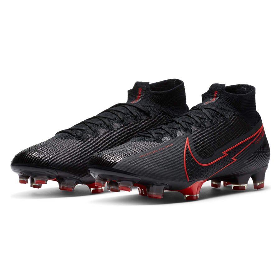 Nike Fußballschuh Mercurial Superfly VII Elite FG schwarz/rot Bild 10