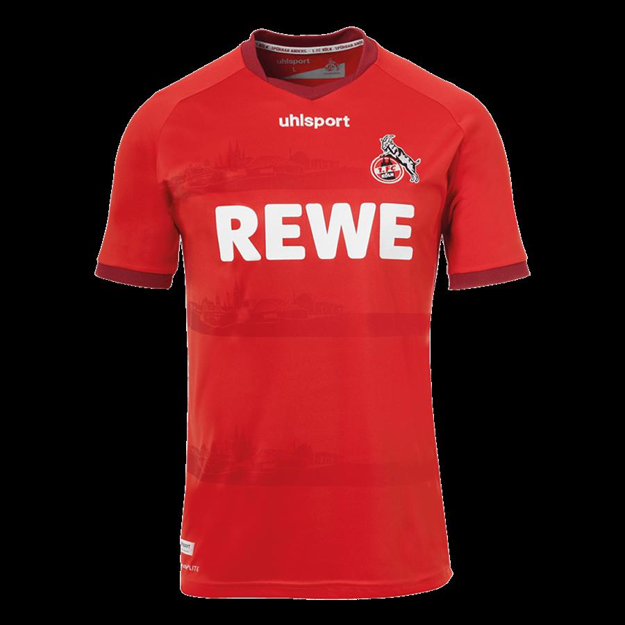 Uhlsport 1. FC Köln Herren Auswärts Trikot 2020/21 rot/weiß Bild 2