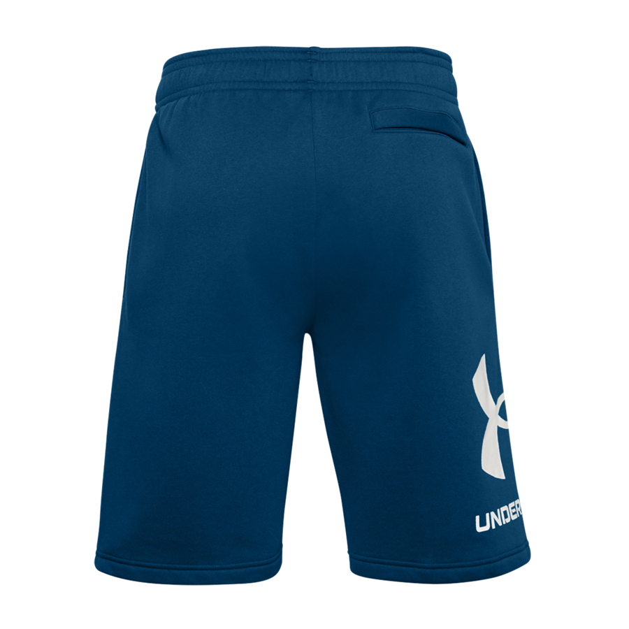 Under Armour Short Rival Fleece Big Logo blau/weiß Bild 3