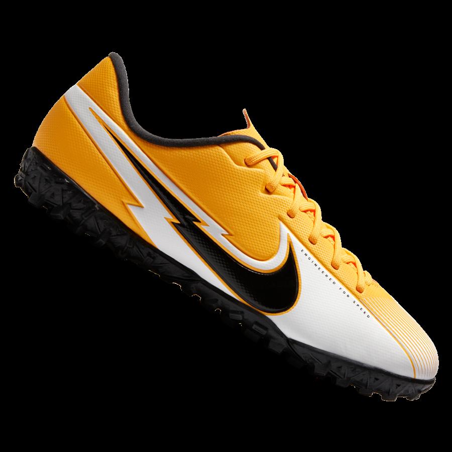 Nike Kinder Fußballschuh Mercurial Vapor XIII Academy Jr TF Kunstrasen orange/schwarz Bild 2