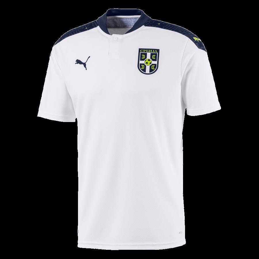 Puma Serbien Herren Auswärts Trikot EM 2020 weiß/dunkelblau Bild 2