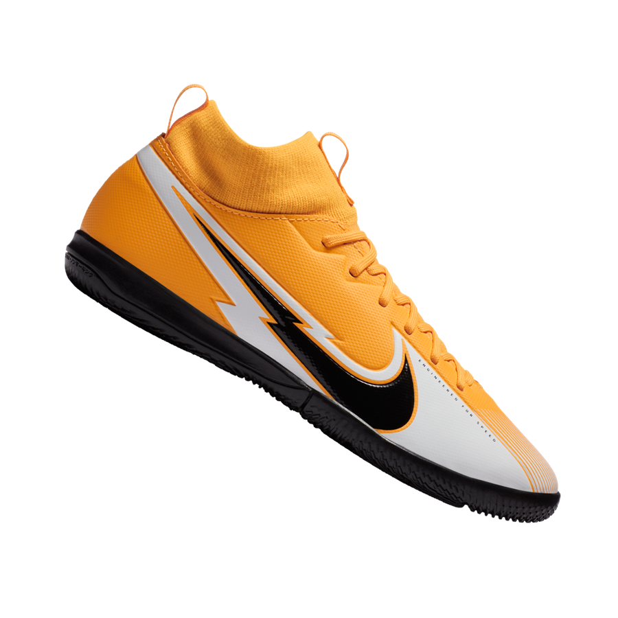 Nike Kinder Hallenschuh Mercurial Superfly VII Academy Jr IC orange/schwarz Bild 2