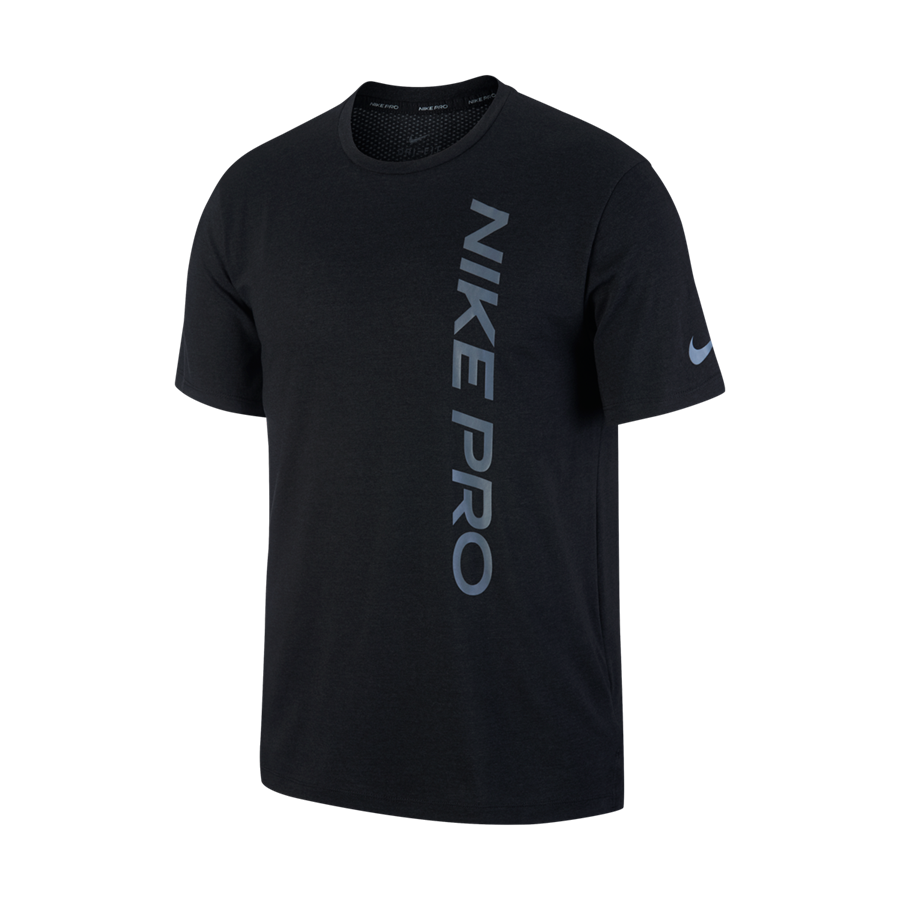 Nike Pro NPC Burnout tréningpóló fekete/sötétszürke Kép 2