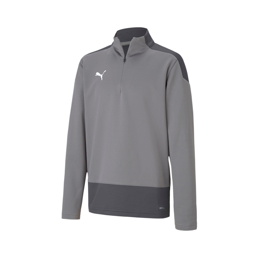 Puma Kinder Trainings Top Team Goal 23 1/4 Zip Top grau/dunkelgrau Bild 2