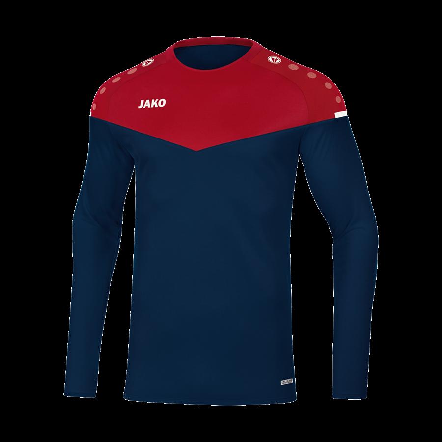 Jako Trainingsoberteil Sweat Champ 2.0 dunkelblau/rot Bild 2