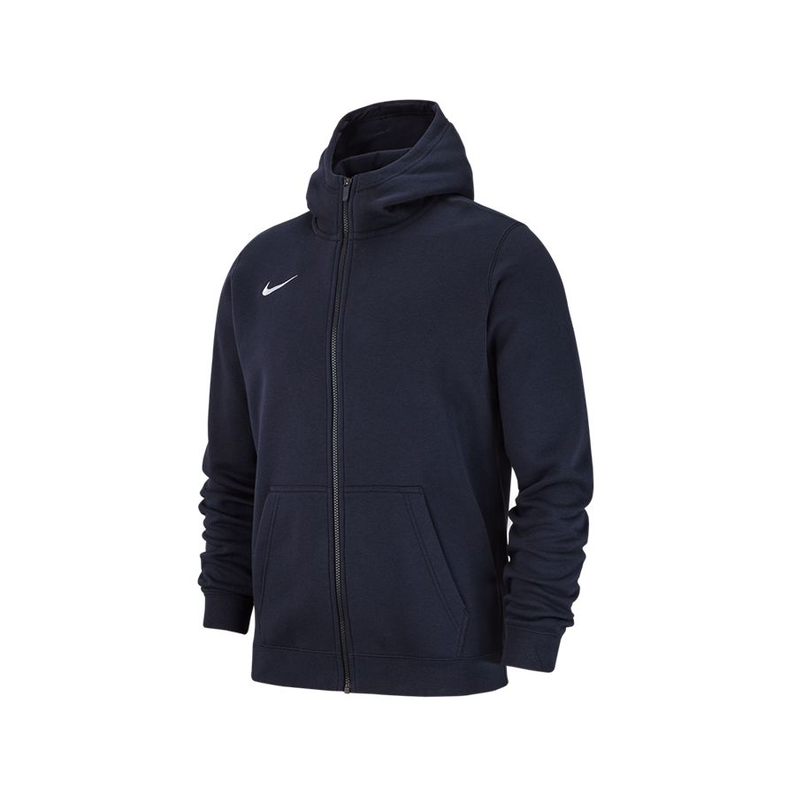 Nike Kinder Kapuzenjacke Team Club 19 Fleece Hoody dunkelblau/weiß