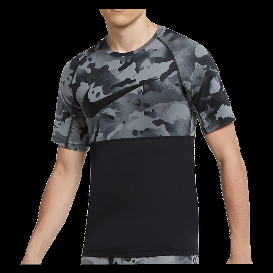 Nike Slim Camo SS Top tréningpóló fekete Kép 2