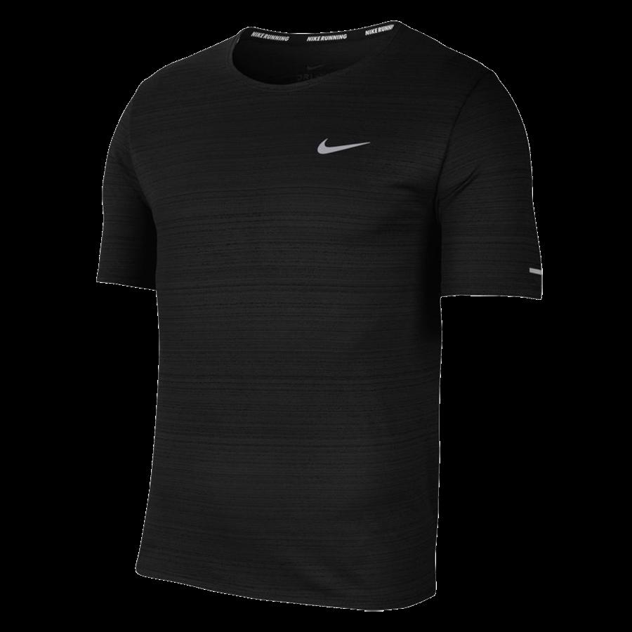 Nike Laufshirt Miler schwarz/silber Bild 2