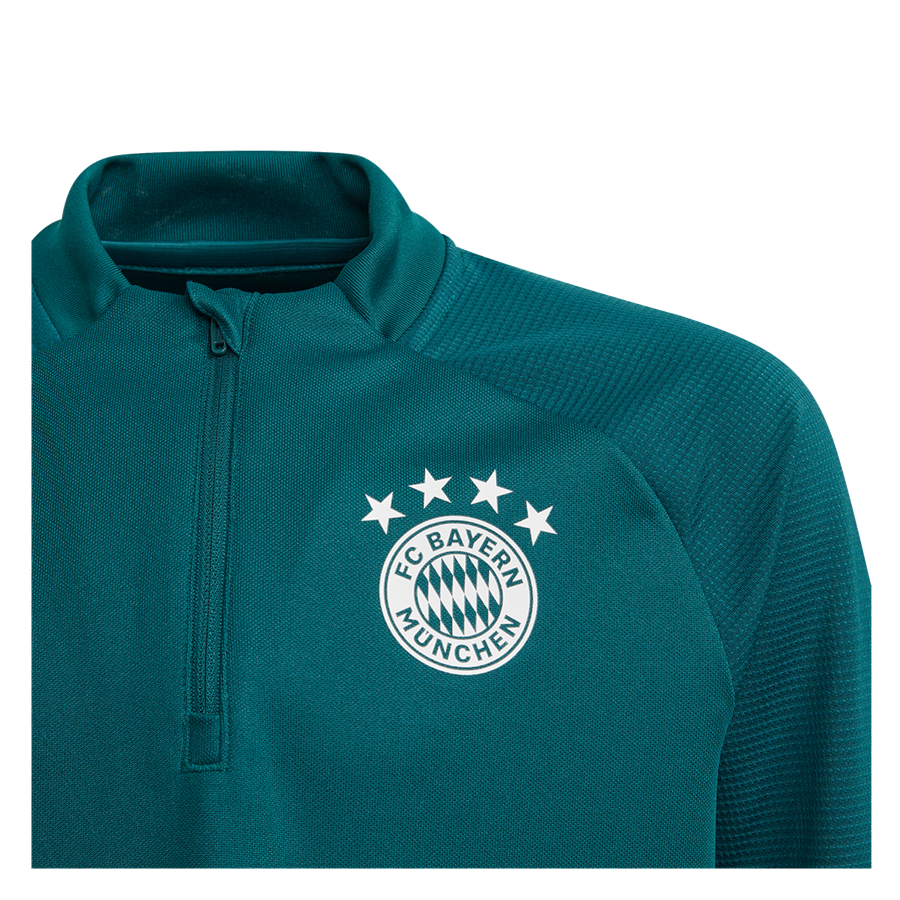 adidas FC Bayern München Kinder Trainingsoberteil türkis/weiß Bild 4