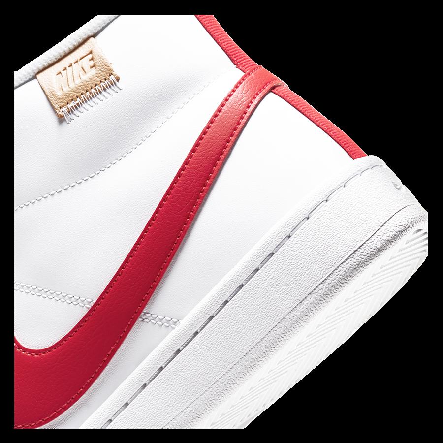 Nike Freitzeitschuh Court Royale II Mid weiß/rot Bild 7