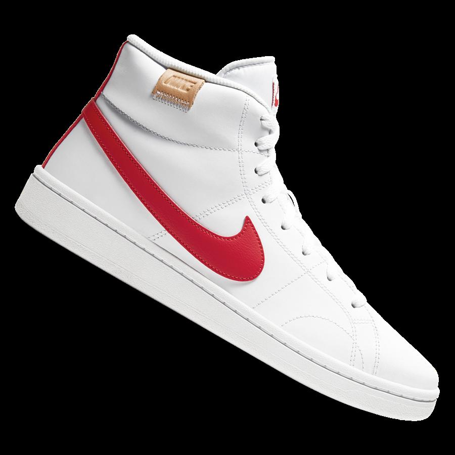 Nike Freitzeitschuh Court Royale II Mid weiß/rot Bild 2