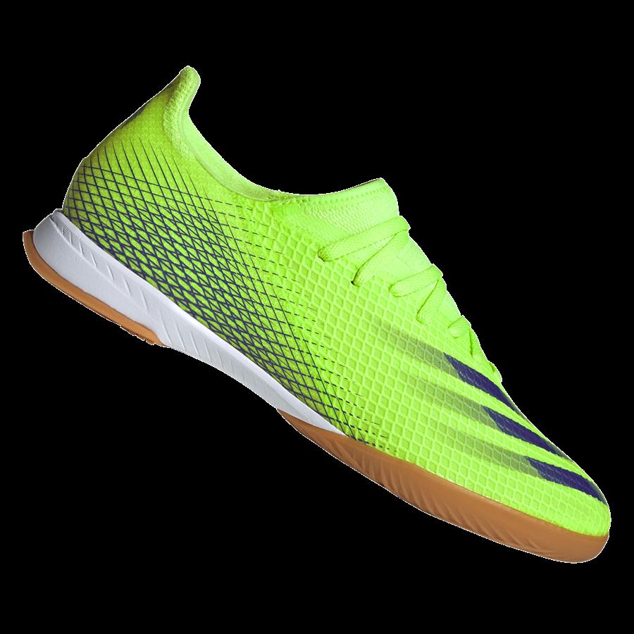 adidas Hallenschuh X Ghosted.3 IN grün fluo/violett Bild 2