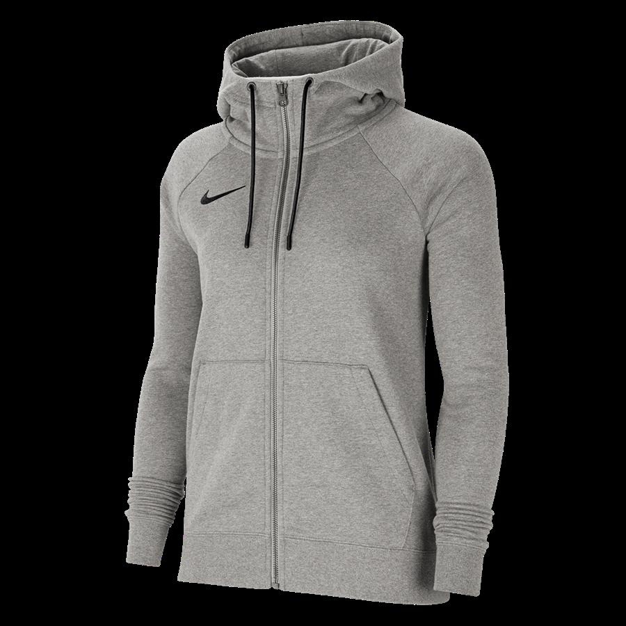 Nike Damen Kapuzenjacke Team Park 20 Fleece hellgrau Bild 2