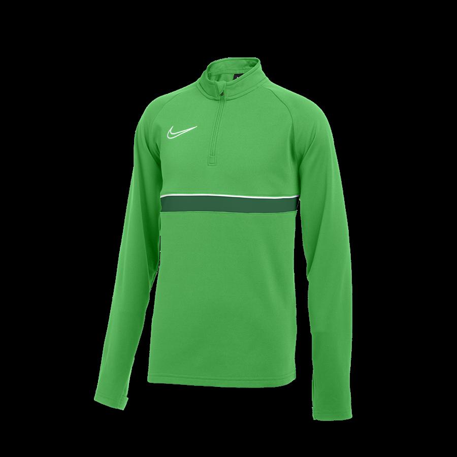 Nike Kinder Trainingsoberteil Academy 21 Drill Top 1/4 Zip LS grün Bild 2