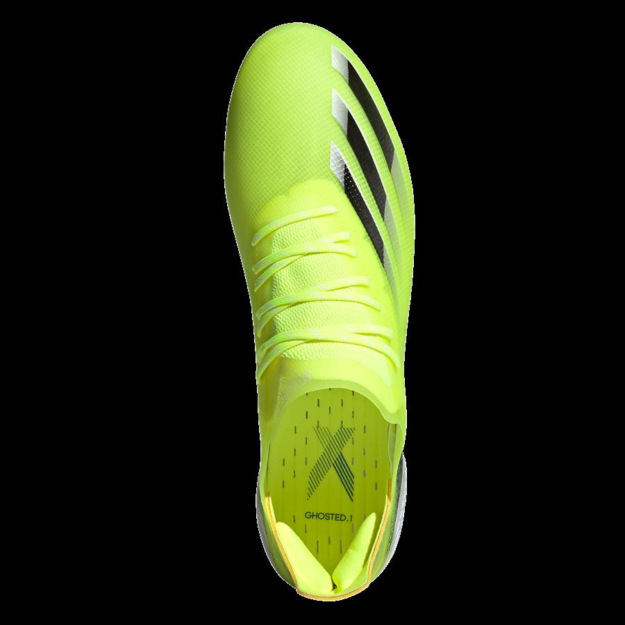 adidas Fußballschuh X Ghosted.1 FG gelb fluo/schwarz Bild 4
