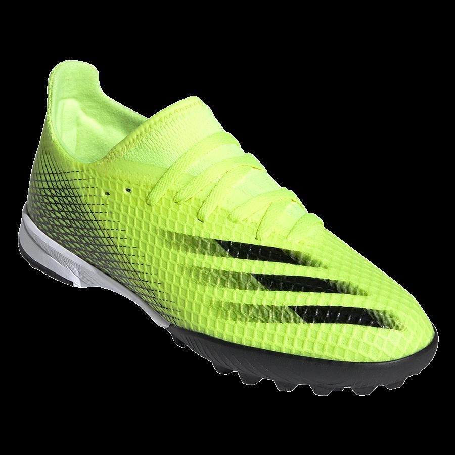 adidas Kinder Fußballschuh X Ghosted.3 TF Kunstrasen gelb fluo/schwarz Bild 8