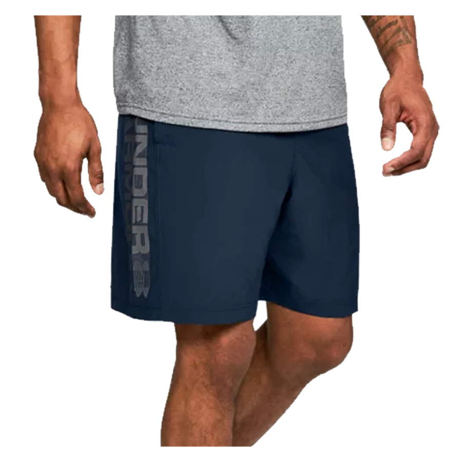 Under Armour Short Woven Graphic Wordmark dunkelblau Bild 4