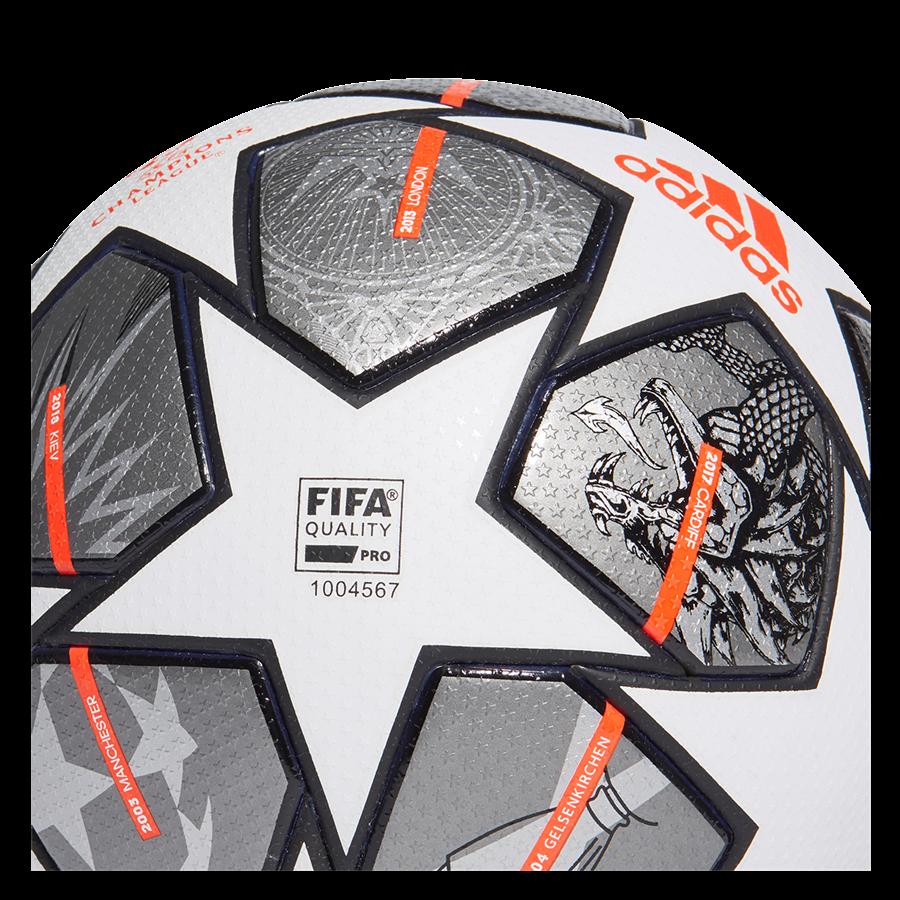adidas Champions League Finale 2021 voetbal maat 5 wit/grijs Afbeelding 4