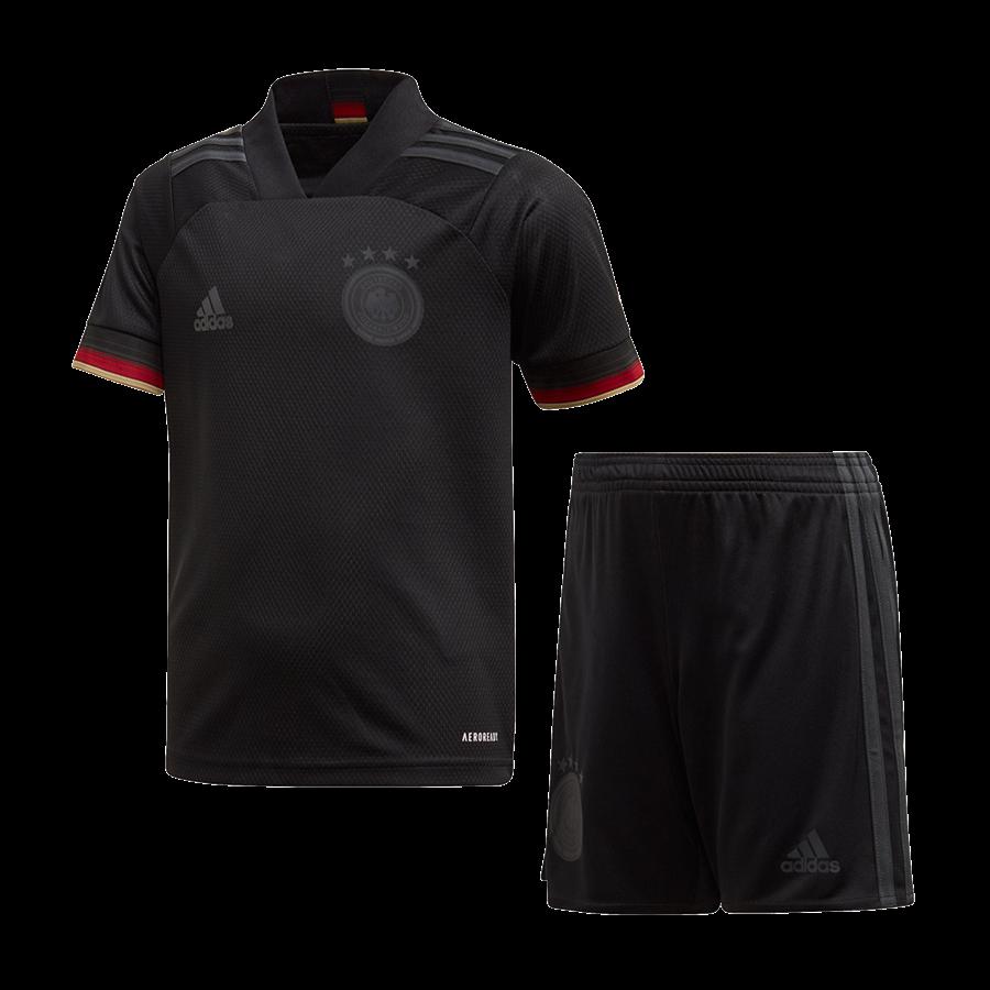 adidas Deutschland Kleinkinder Auswärts Kit EM 2020 schwarz/anthrazit Bild 2